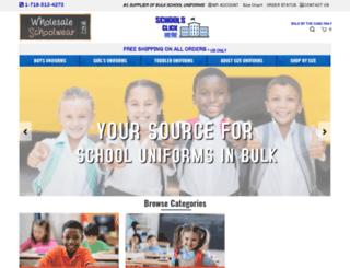 wholesaleschoolwear.com screenshot