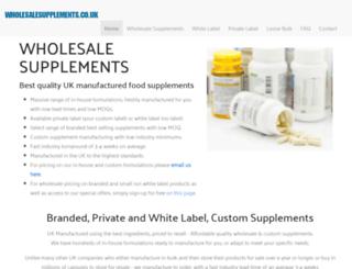 wholesalesupplements.co.uk screenshot