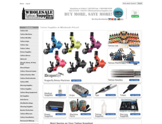 wholesaletattoosupplies.com screenshot