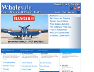 wholesaletrains.com screenshot