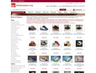 wholesneakers.org screenshot