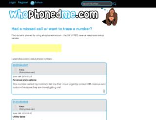 whophonedme.com screenshot