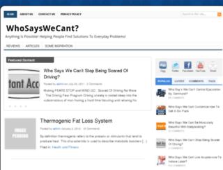 whosayswecant.com screenshot