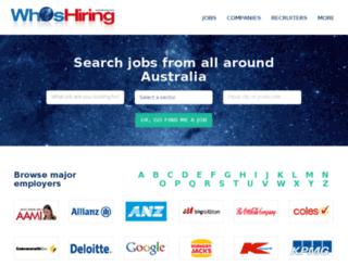 whoshiring.com.au screenshot