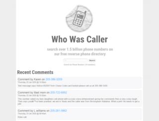 whowascaller.com screenshot