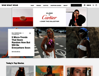 whowhatwear.com screenshot