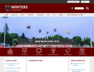 whs-wintersjusd-ca.schoolloop.com screenshot