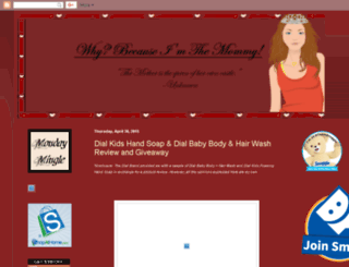 whybecauseimthemommy.blogspot.com screenshot
