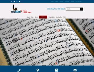whyislam.com screenshot