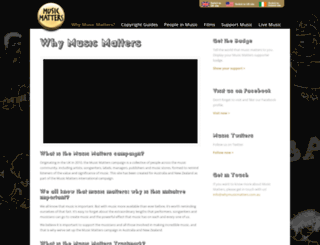 whymusicmatters.co.nz screenshot