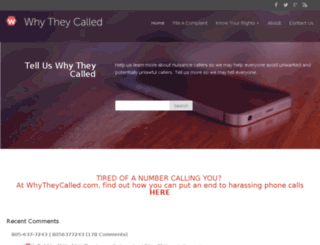 whytheycalled.com screenshot
