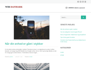 wib-danmark.dk screenshot