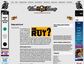 wiccanbeauty.com screenshot