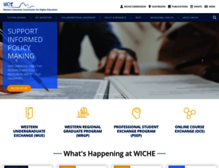 wiche.edu screenshot