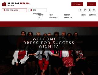 wichita.dressforsuccess.org screenshot