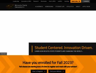 wichita.edu screenshot