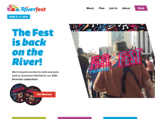 wichitariverfest.com screenshot