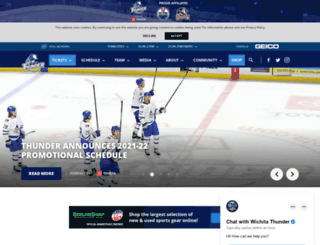 wichitathunder.com screenshot