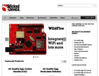 wickeddevice.com screenshot