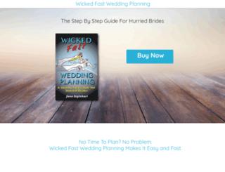 wickedfastwedding.businesscatalyst.com screenshot