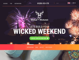 wickedweekends.co.uk screenshot
