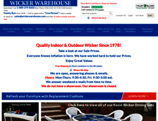 wickerwarehouse.com screenshot
