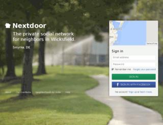 wicksfield.nextdoor.com screenshot