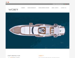 wider-yachts.com screenshot