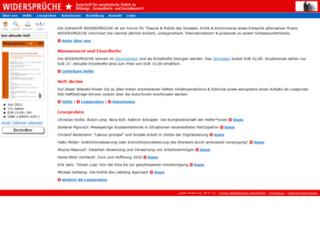 widersprueche-zeitschrift.de screenshot
