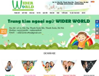 widerworld.edu.vn screenshot