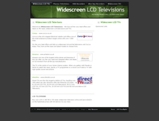 widescreenlcdtelevisions.co.uk screenshot