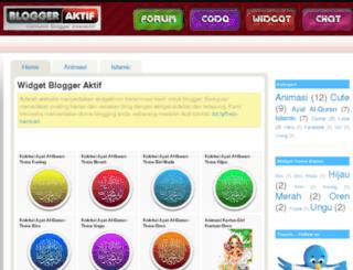 widget.bloggeraktif.com screenshot