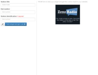 widget.zenoradio.com screenshot