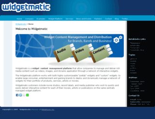 widgetmatic.com screenshot