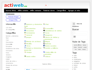 widgets.actiweb.es screenshot