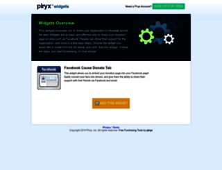 widgets.piryx.com screenshot