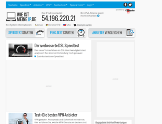 wieistmeineip.ch screenshot