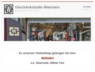 wiemann-geschenkstudio.de screenshot