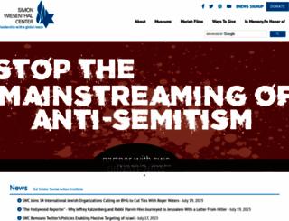 wiesenthal.com screenshot