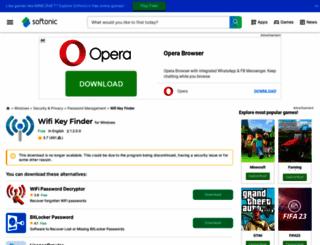 wifi-key-finder.en.softonic.com screenshot