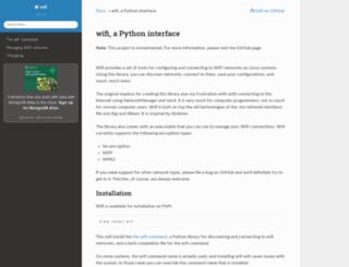 wifi.readthedocs.org screenshot