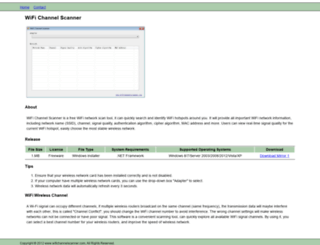 wifichannelscanner.com screenshot