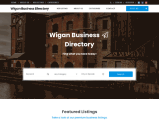 wigan-business-directory.co.uk screenshot