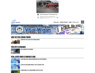 wigan.vitalfootball.co.uk screenshot