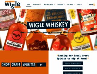 wiglewhiskey.com screenshot