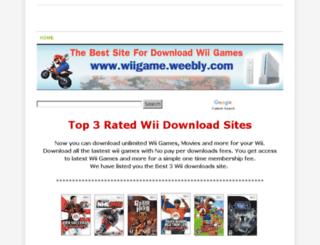 wiigame.weebly.com screenshot
