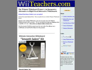 wiiteachers.com screenshot