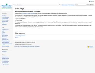 wiki.adams50.org screenshot