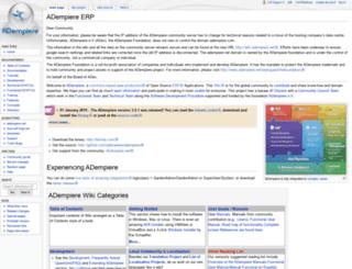 wiki.adempiere.net screenshot