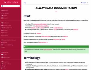 wiki.alwaysdata.com screenshot
